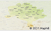 Physical Panoramic Map of Kano, lighten