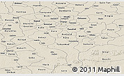 Shaded Relief Panoramic Map of Kano