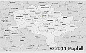 Silver Style Panoramic Map of Kano