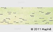 Physical Panoramic Map of Shanono