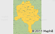 Savanna Style Simple Map of Kano