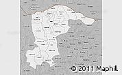 Gray 3D Map of Katsina