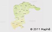 Physical 3D Map of Katsina, cropped outside