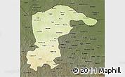 Physical 3D Map of Katsina, darken