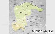 Physical 3D Map of Katsina, desaturated