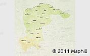 Physical 3D Map of Katsina, lighten