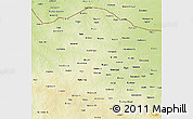 Physical 3D Map of Katsina