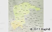 Physical 3D Map of Katsina, semi-desaturated