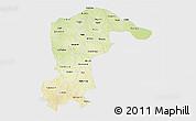 Physical 3D Map of Katsina, single color outside