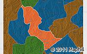 Political Map of Bakori, darken