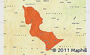 Political Map of Bakori, physical outside