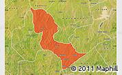 Political Map of Bakori, satellite outside