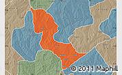 Political Map of Bakori, semi-desaturated