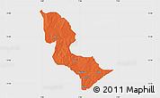 Political Map of Bakori, single color outside
