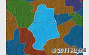 Political Map of Malumfas, darken