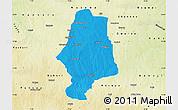 Political Map of Malumfas, physical outside