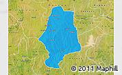 Political Map of Malumfas, satellite outside