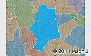 Political Map of Malumfas, semi-desaturated
