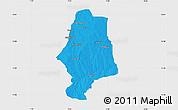Political Map of Malumfas, single color outside