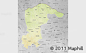 Physical Map of Katsina, desaturated