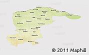 Physical Panoramic Map of Katsina, cropped outside