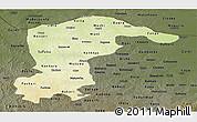 Physical Panoramic Map of Katsina, darken