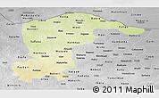 Physical Panoramic Map of Katsina, desaturated