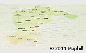 Physical Panoramic Map of Katsina, lighten