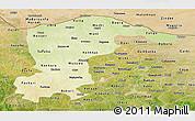 Physical Panoramic Map of Katsina, satellite outside