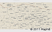 Shaded Relief Panoramic Map of Katsina