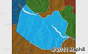 Political Map of Bagudo, darken