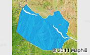 Political Map of Bagudo, satellite outside