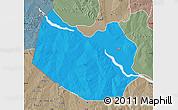 Political Map of Bagudo, semi-desaturated