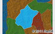 Political Map of Bunza, darken