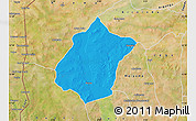 Political Map of Bunza, satellite outside