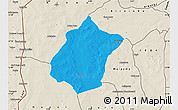 Political Map of Bunza, shaded relief outside