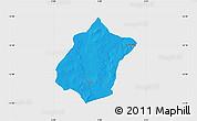 Political Map of Bunza, single color outside