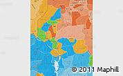 Political Map of Kebbi, political shades outside