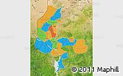 Political Map of Kebbi, satellite outside