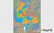 Political Map of Kebbi, semi-desaturated