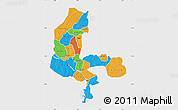 Political Map of Kebbi, single color outside