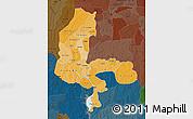 Political Shades Map of Kebbi, darken