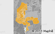 Political Shades Map of Kebbi, desaturated