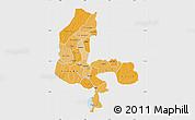 Political Shades Map of Kebbi, single color outside