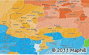 Political Shades Panoramic Map of Kebbi