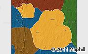 Political Map of Sakaba, darken