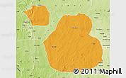 Political Map of Sakaba, physical outside
