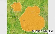 Political Map of Sakaba, satellite outside