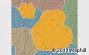 Political Map of Sakaba, semi-desaturated