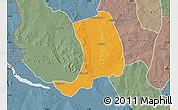 Political Map of Suru, semi-desaturated